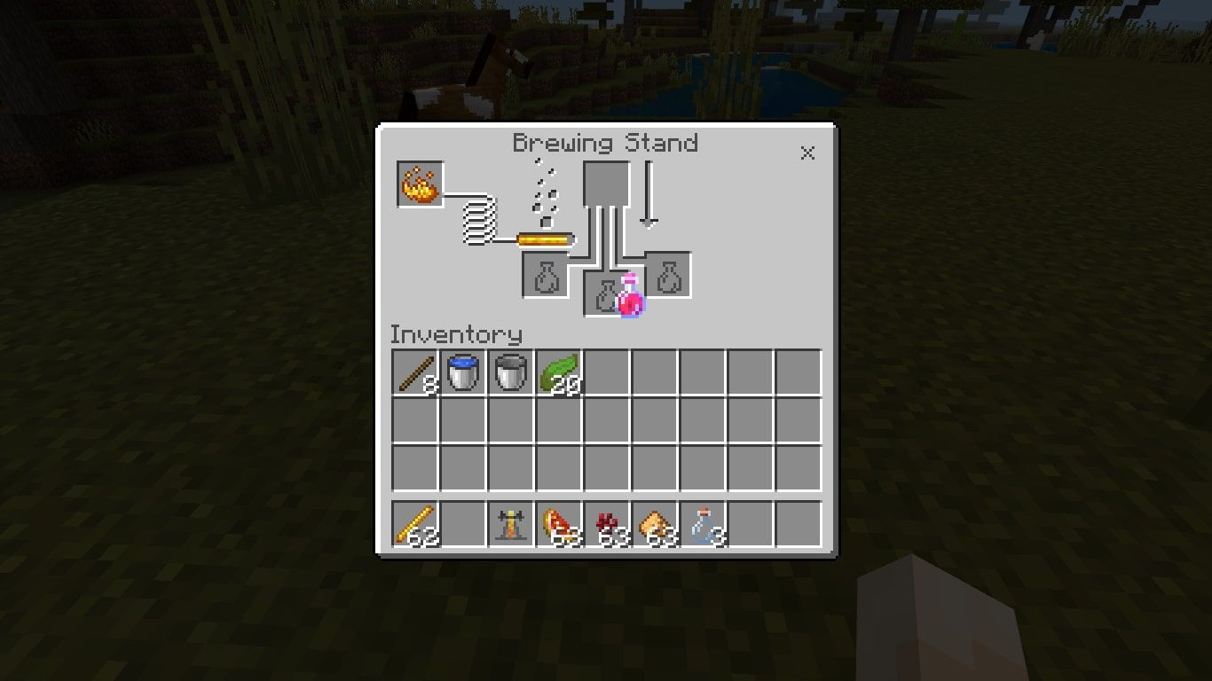 Open the brewing menu and add your Potion of Healing (Instant Health 1) into one of the bottom boxes.