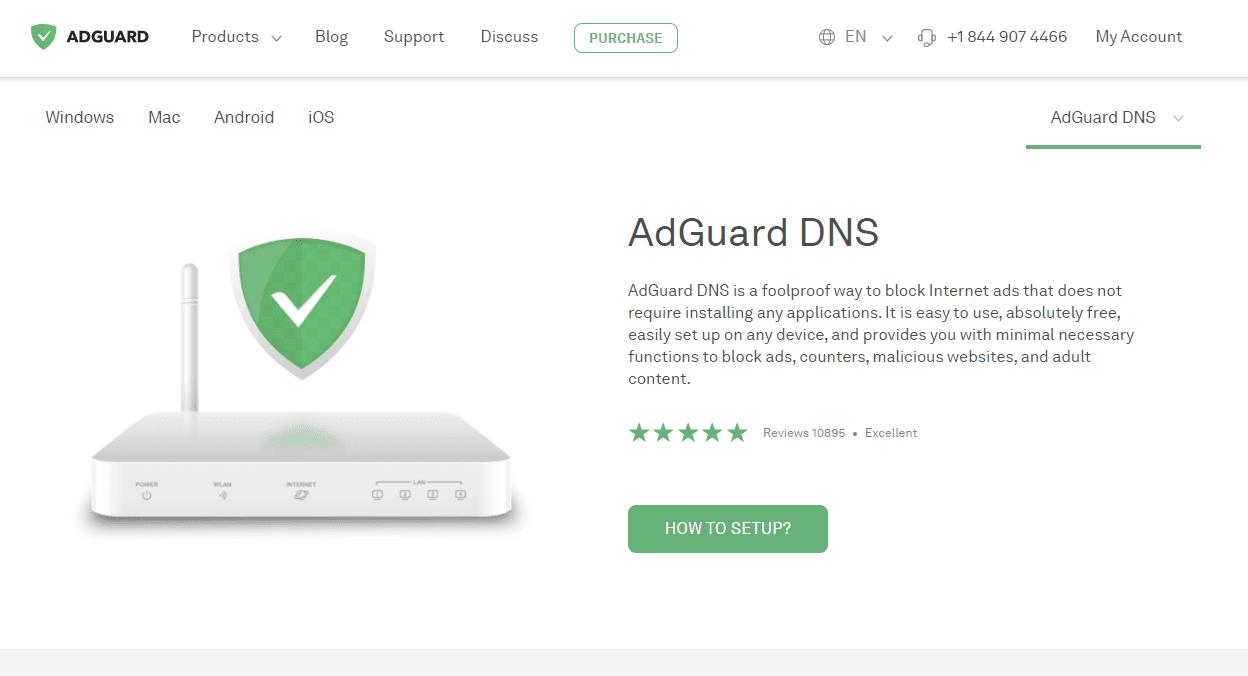 AdGuard DNS website