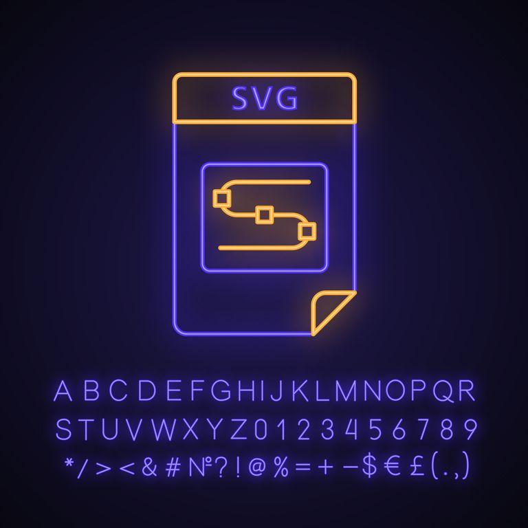 SVG file neon light icon