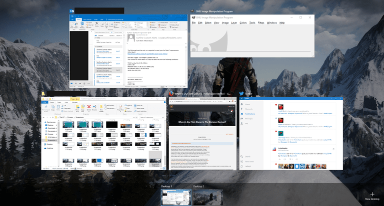 Task View in Windows 10