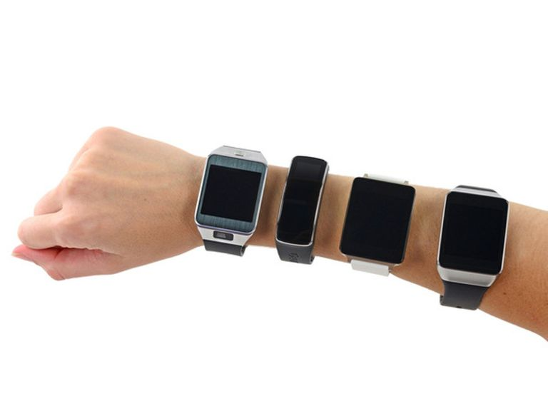 Multiple smartwatches on an arm