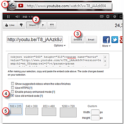 Get the HTML code to embed a YouTube video in PowerPoint