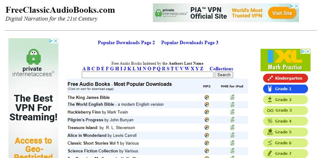 FreeClassicAudioBooks.com website