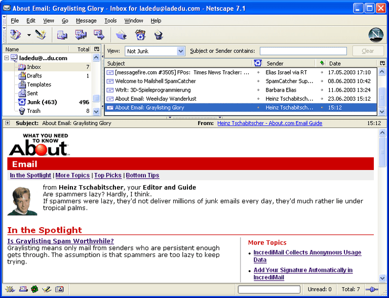 Netscape - Free Email Program
