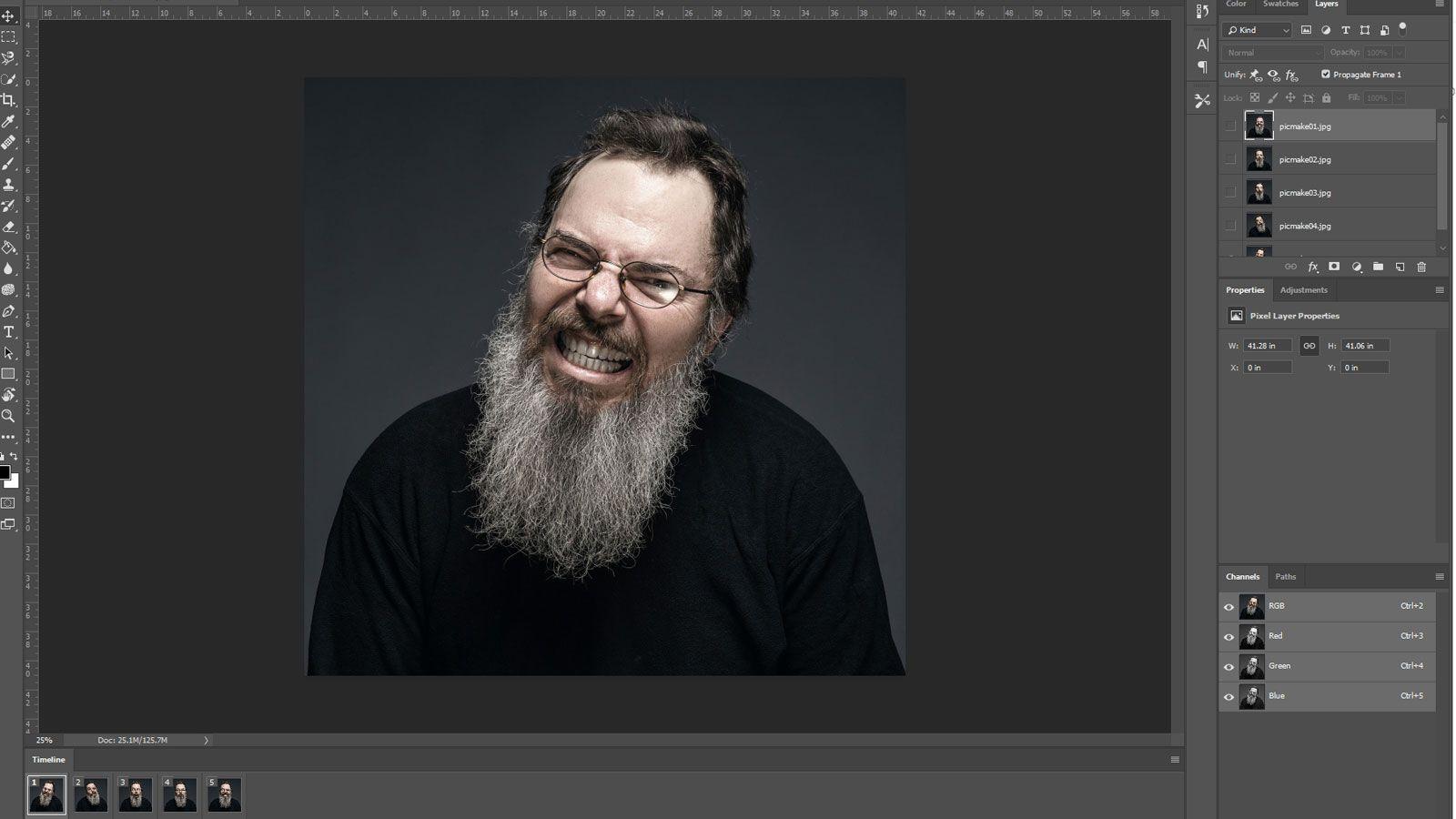 Photoshop GIF timeline