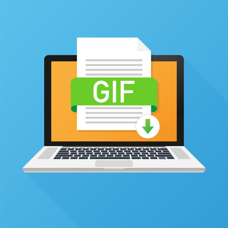 Illustration of a GIF file on a computer screen