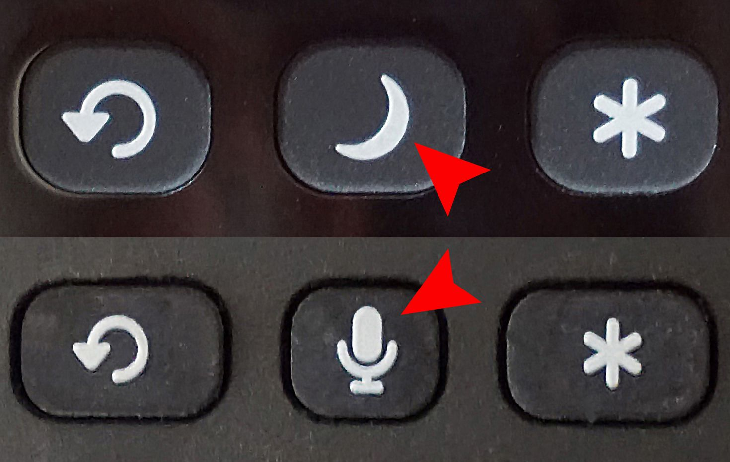 Roku TV Remote Comparison — Sleep Timer vs Microphone Buttons