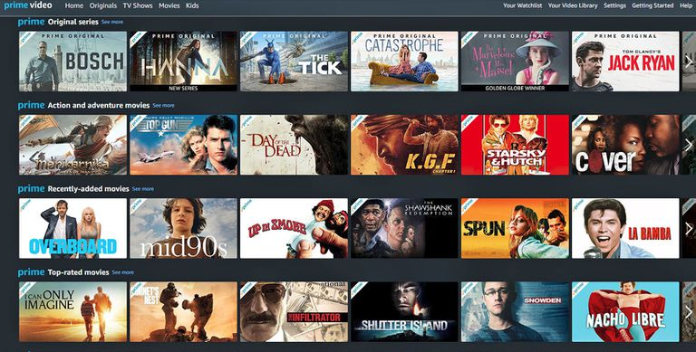 Amazon Prime Video – Screenshot View Example
