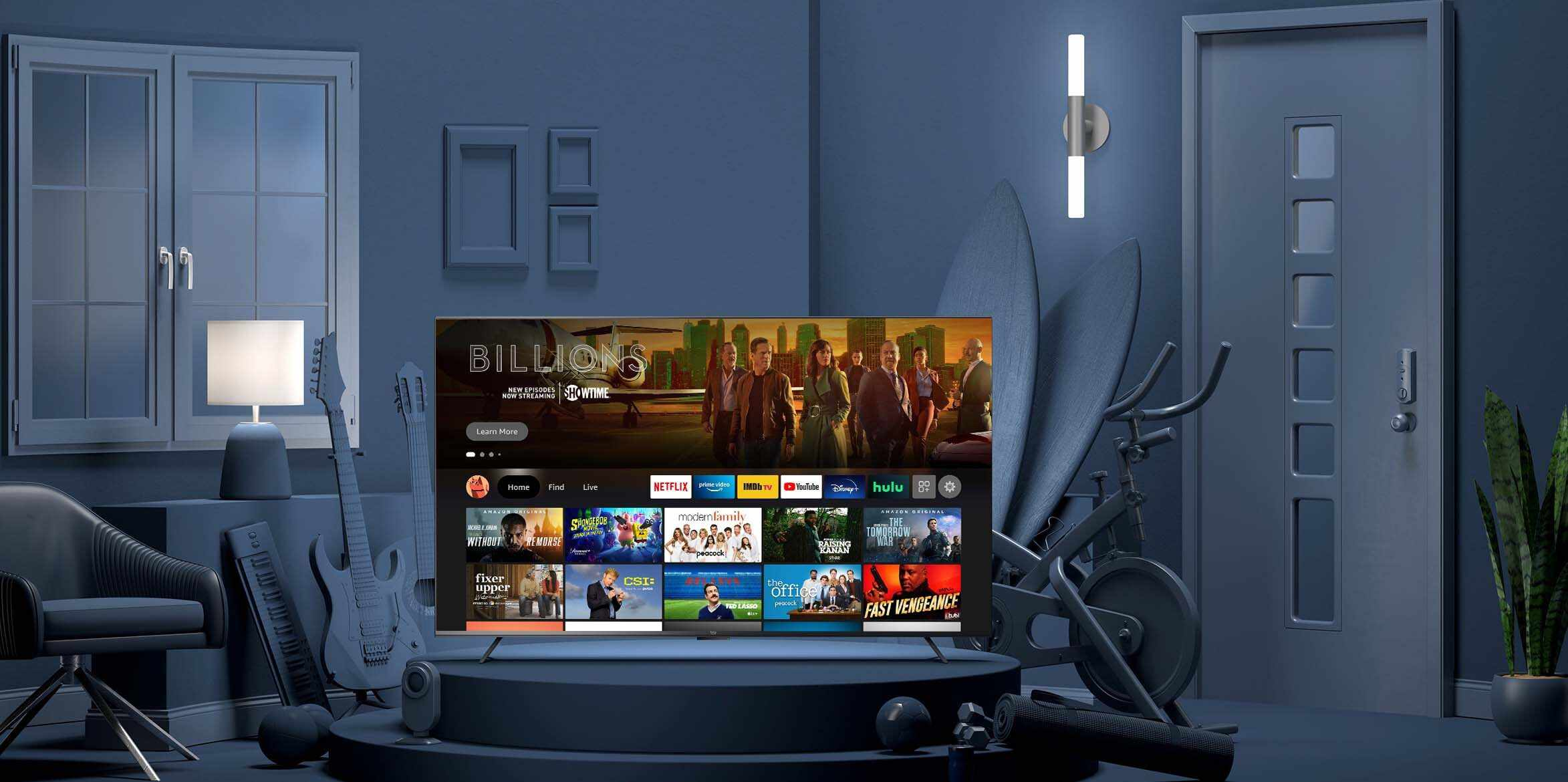 Amazon Omni series Smart TV in a living room