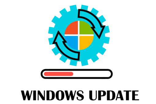 Illustration of Windows Update in progress