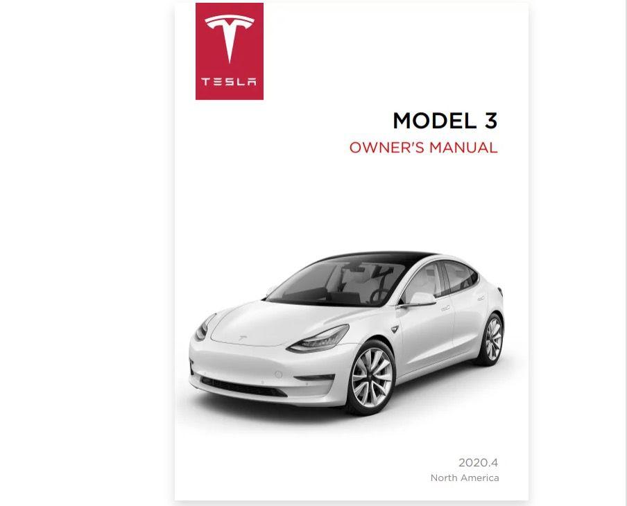 2020 Tesla Model 3 owner's manual