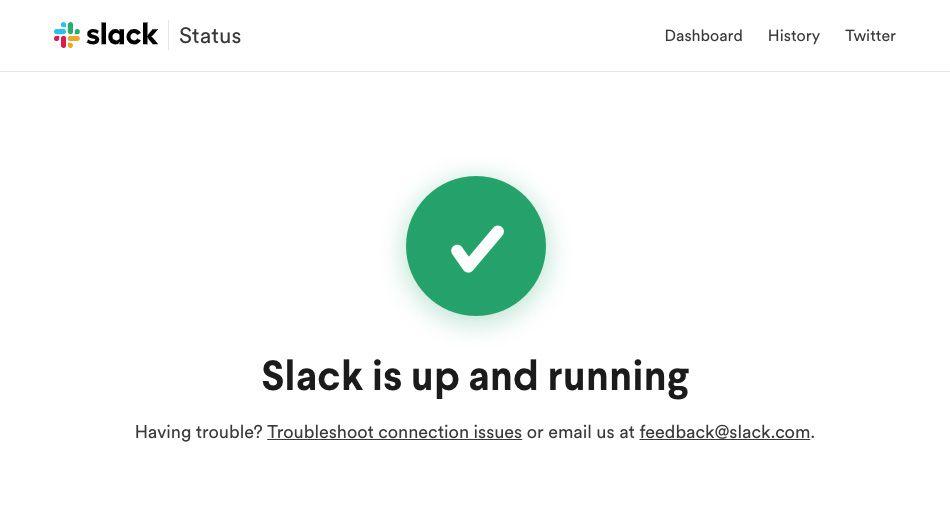 Slack's Status Page