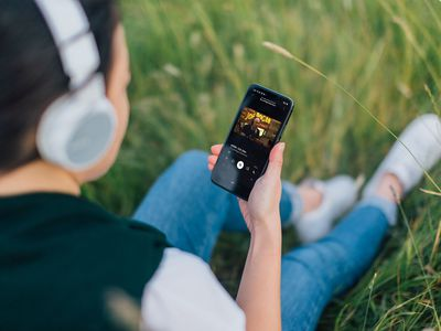 Watching a video on Spotify on a phone.