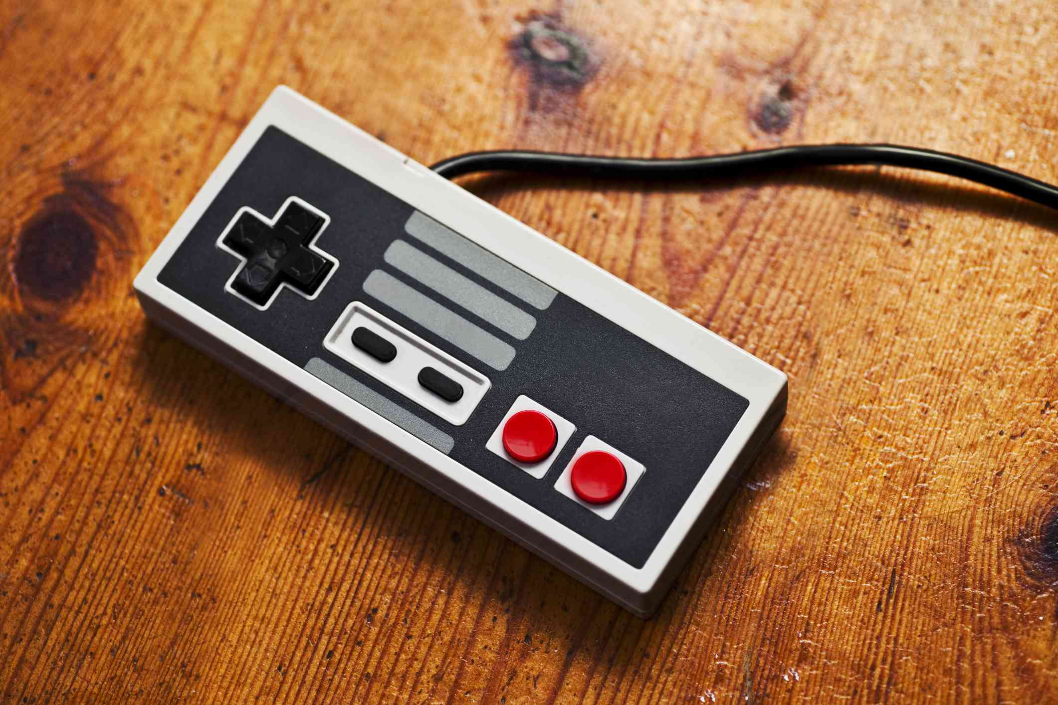 Retro gaming console controller.