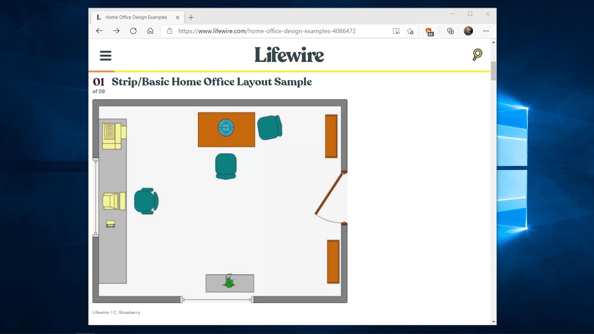 A resized Microsoft Edge window.