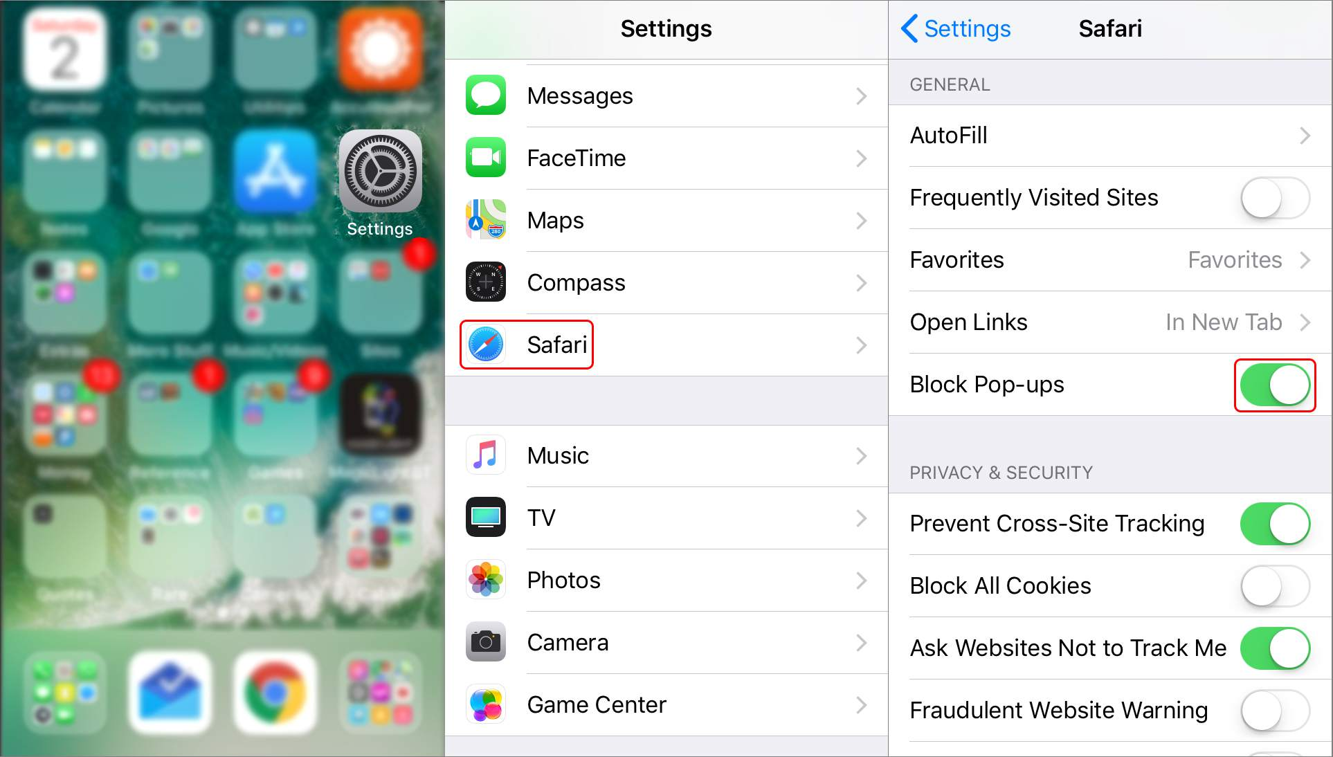 pop up blocker iphone how to enable the pop up blocker in safari 8511