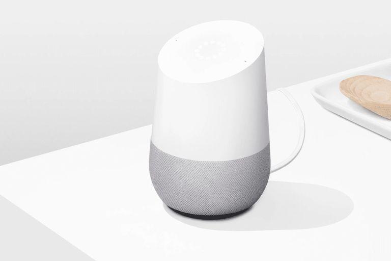 Google home speaker on countertop