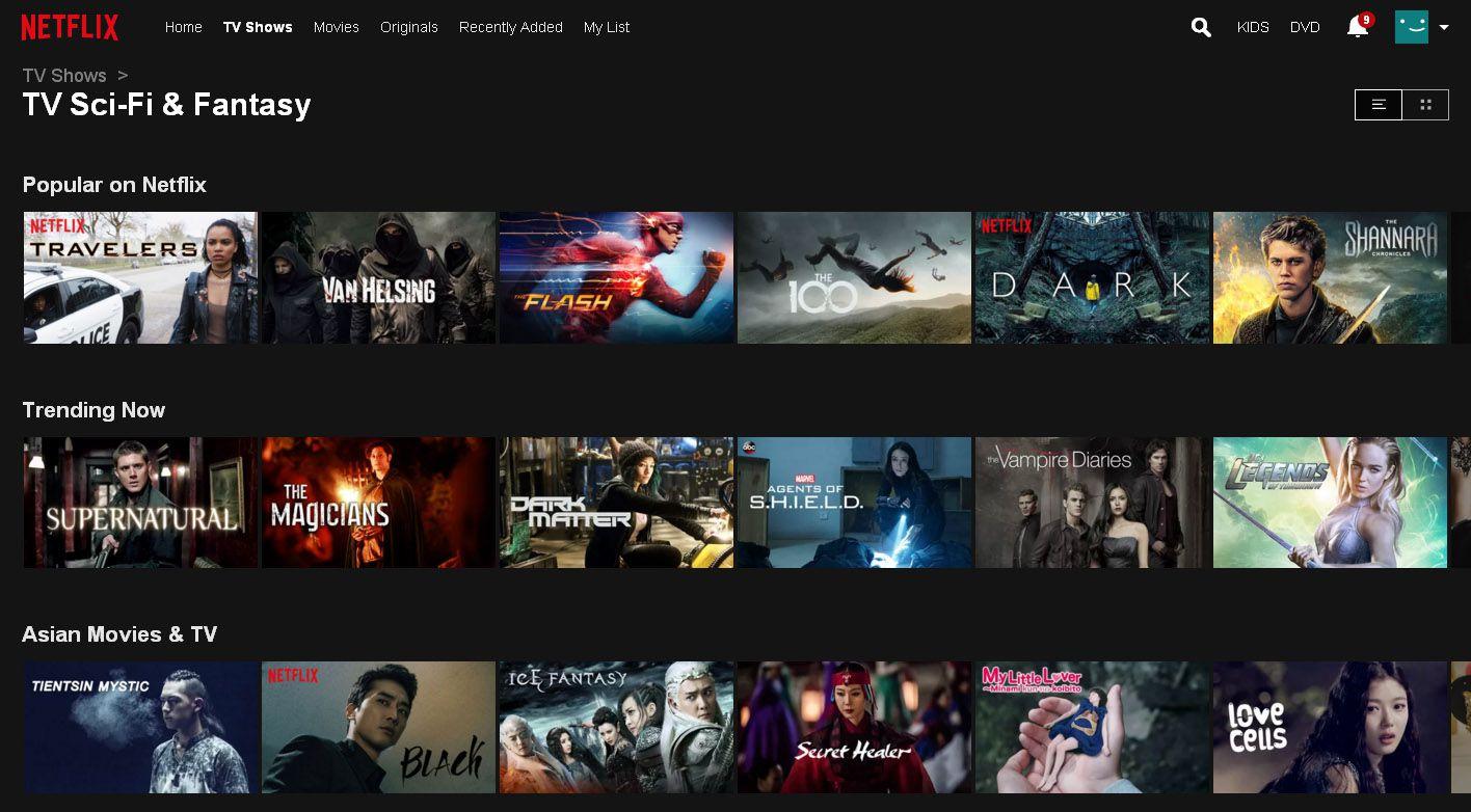 Netflix Menu Example