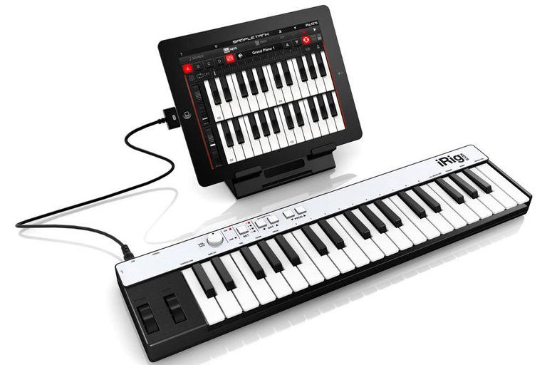 The iRig Keys portable MIDI keyboard controller.