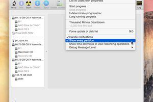 Disk Utility Debug Menu screenshot