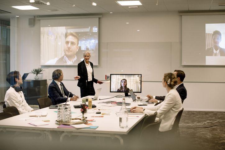 Business meeting via Zoom