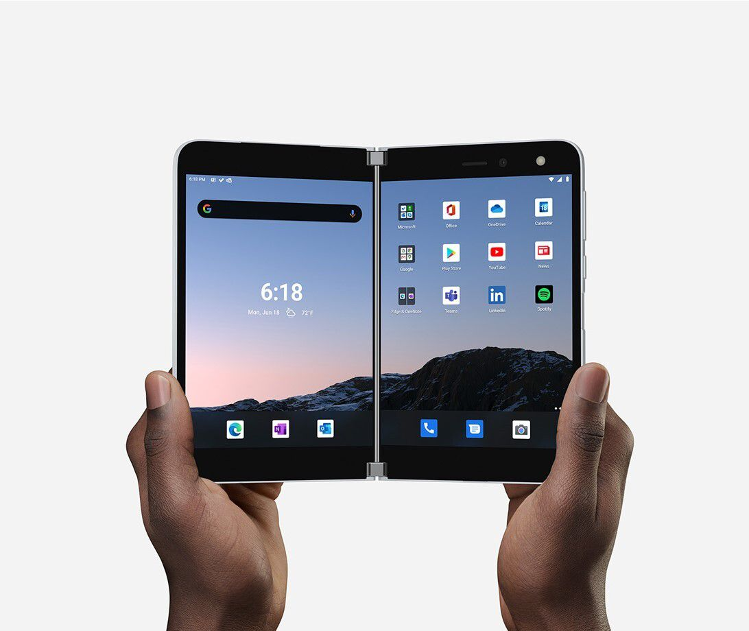 A foldable phone from Microsoft.