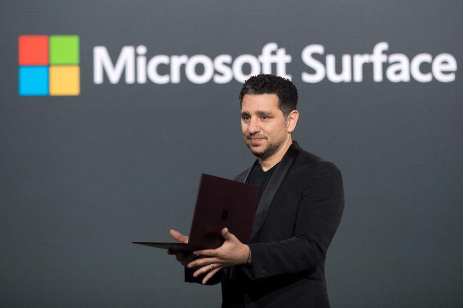 Panos Panay at a Microsoft Surface event 2017