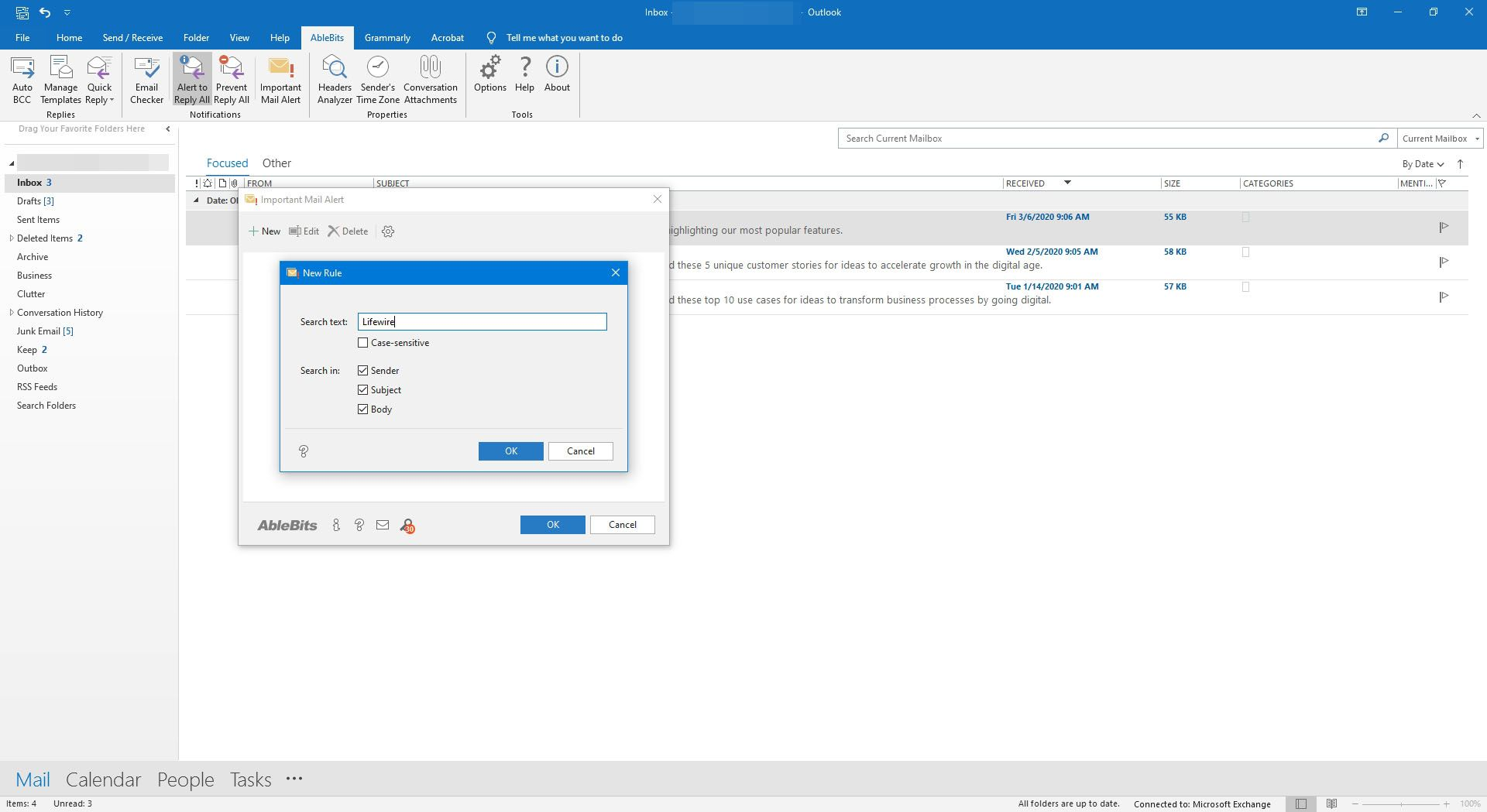 Ablebits add-ins for Outlook.