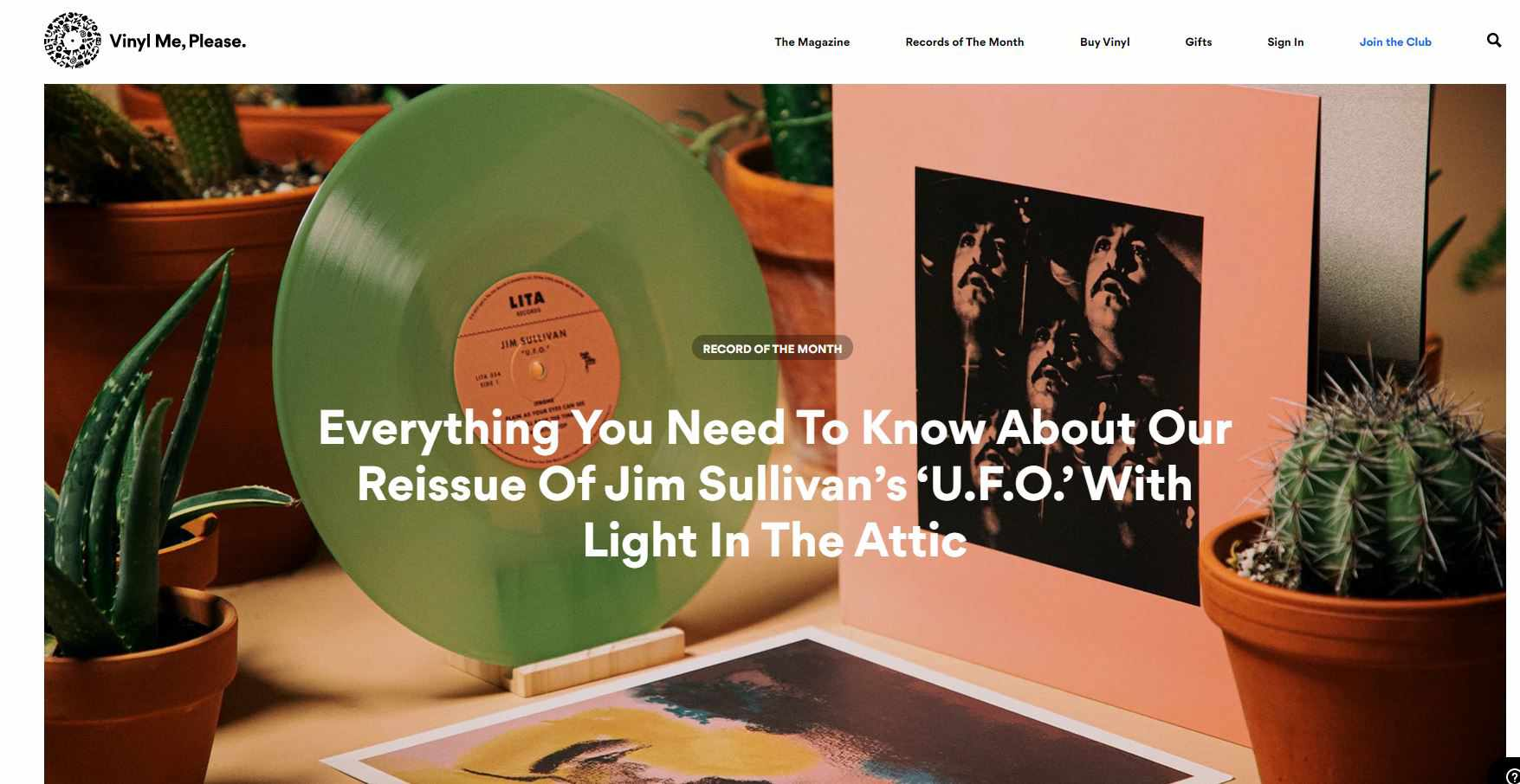 Screenshot of Vinyl Me, Please
