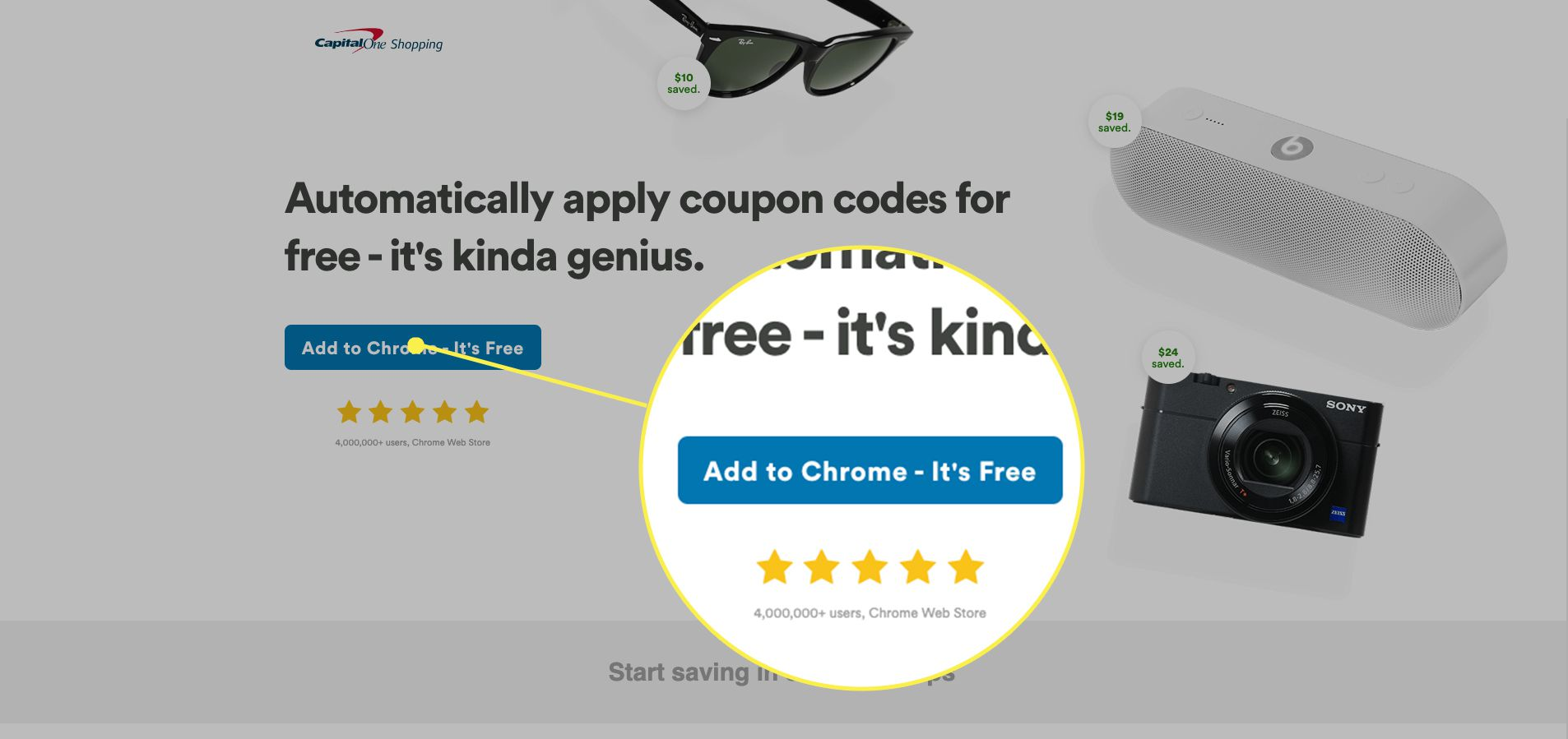 Capital One Shopping add to browser