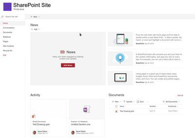 A Basic SharePoint Layout