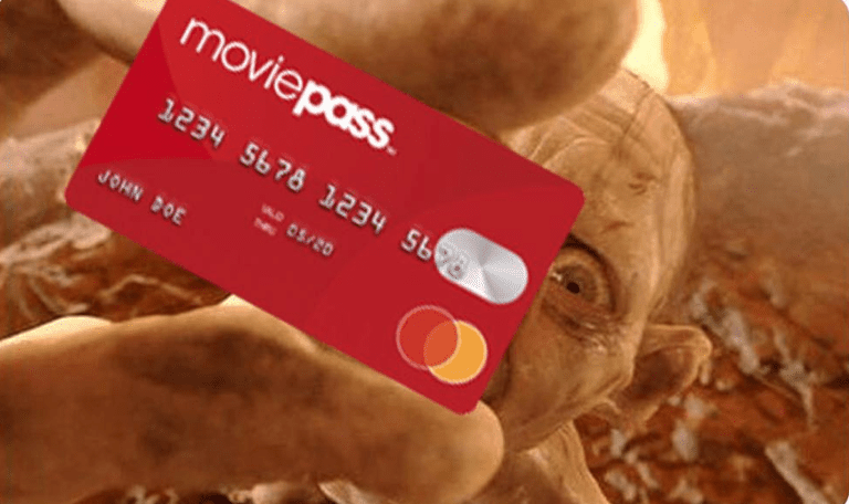 Screenshot of MoviePass Instagram Photo of MoviePass debit card