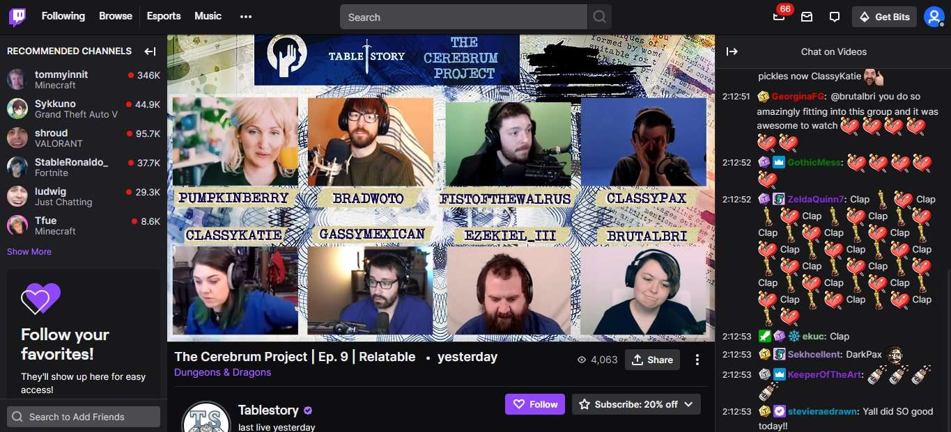 Tablestory on Twitch