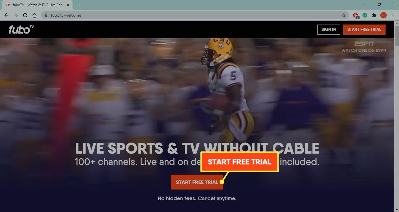 Start Free Trial on Fubo.TV