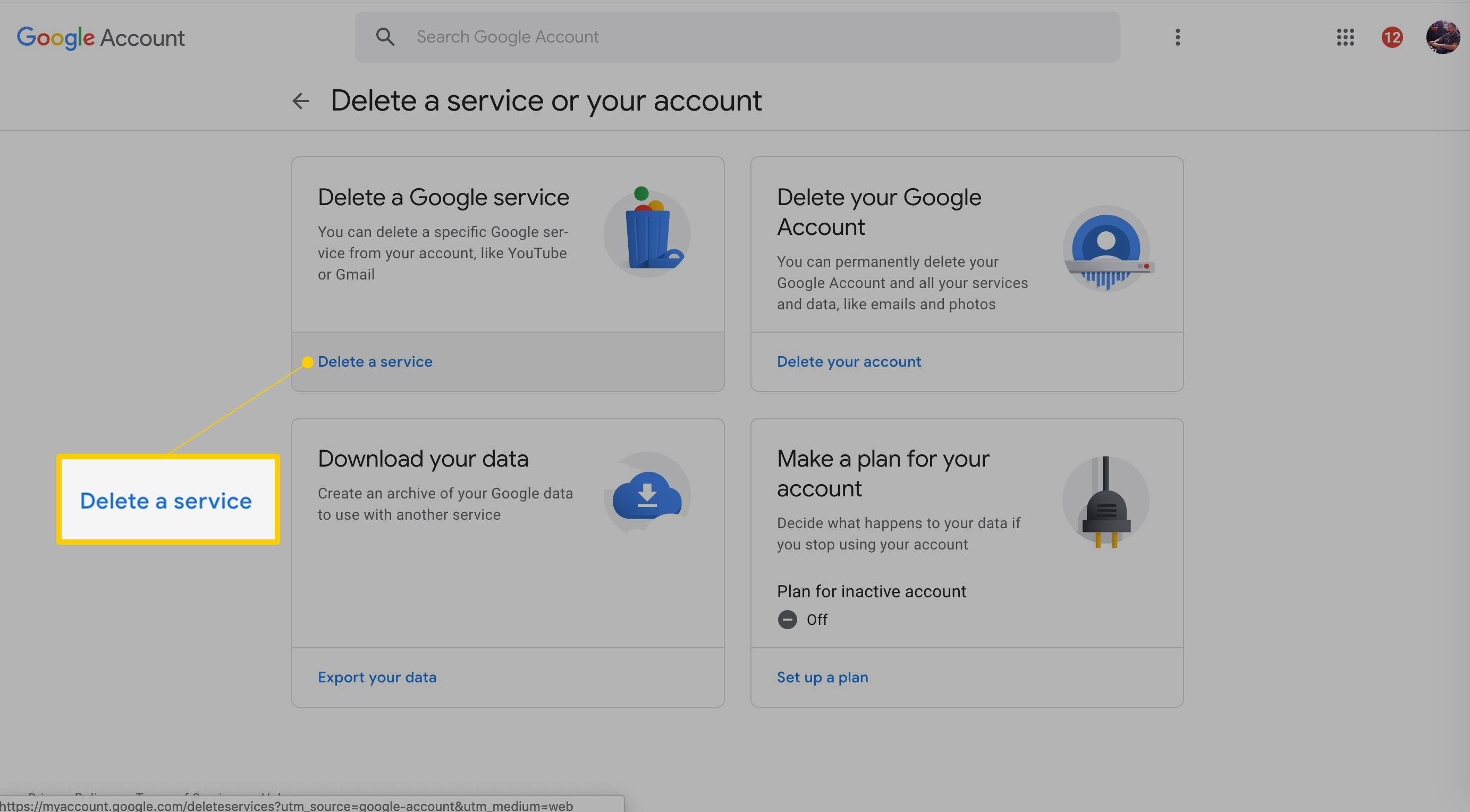 how to clear google account on android