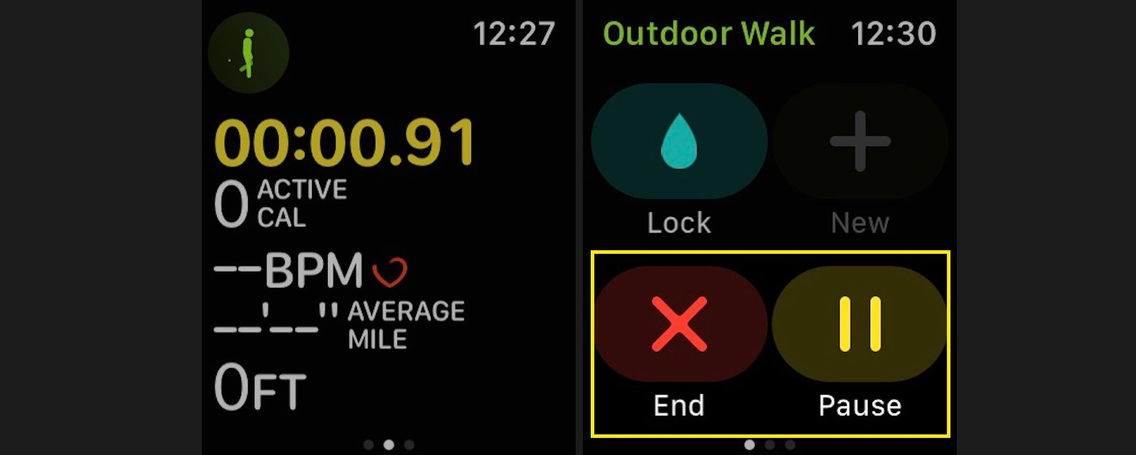 End or pause a workout on your Apple Watch
