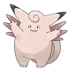 Clefable - Ken Sugimori's Official Artwork