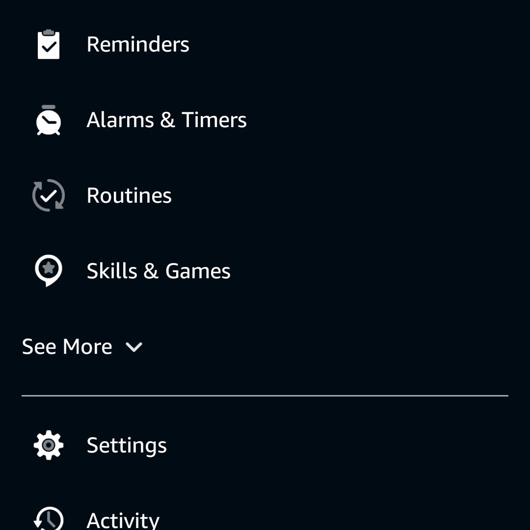 Skills & Games highlighted in the Alexa app.