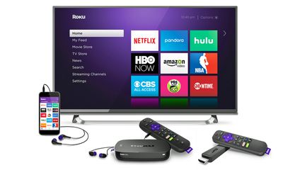 Roku Ultra, Streaming Stick, Smartphone, and TV