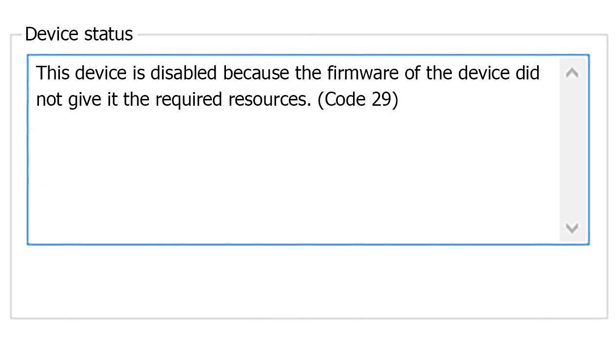 How to Fix Error Code 29
