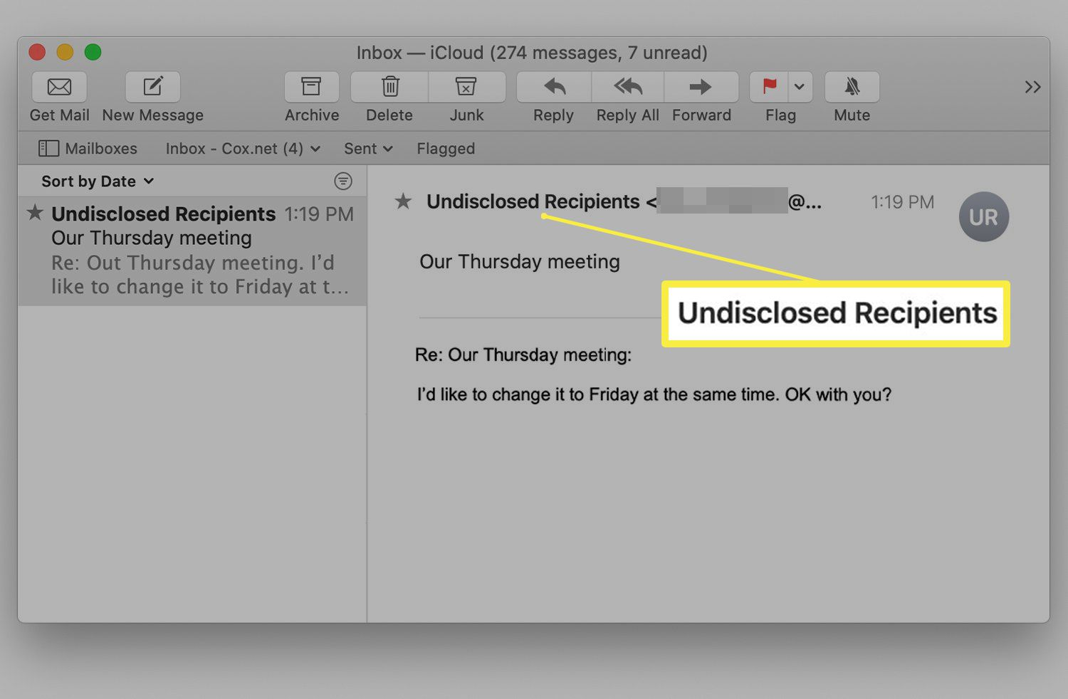 Apple Mail with undisclosed recipients