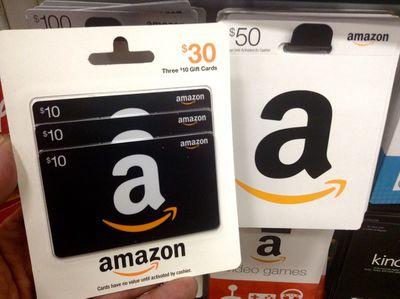 Amazon gift card assortment