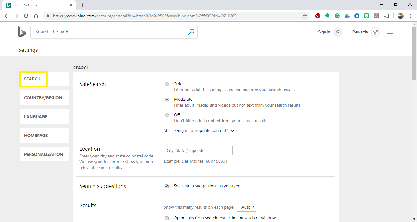 How to Turn SafeSearch Off