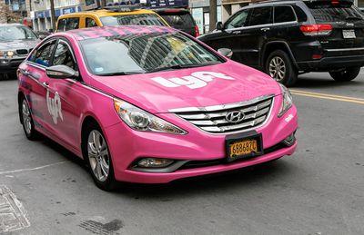Pink Lyft car