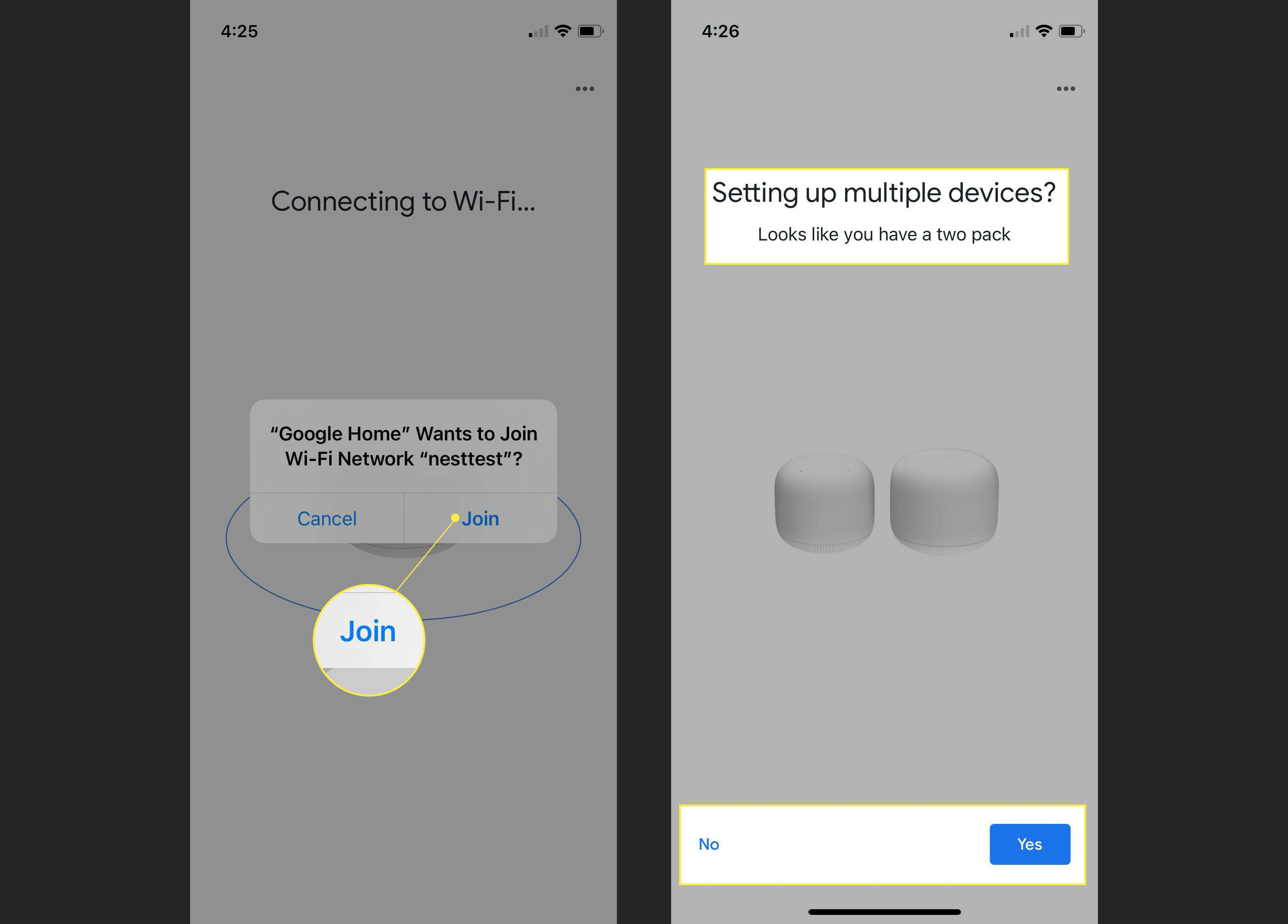 Final steps to complete the Google Nest installation with Join and