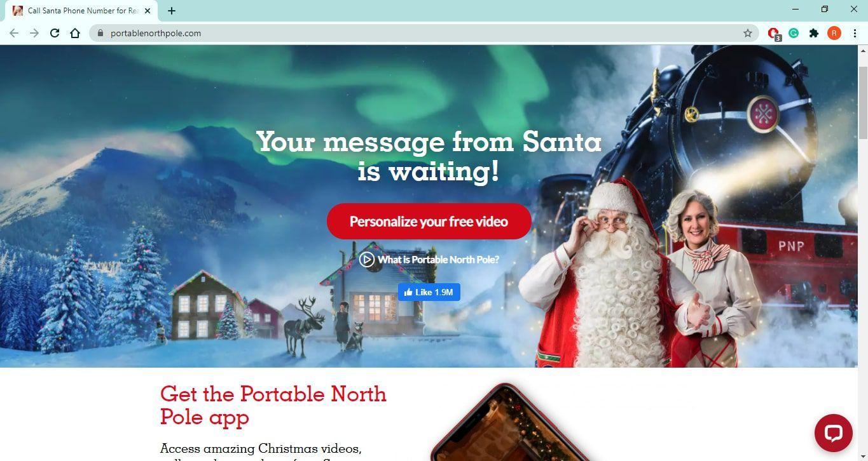 Portable North Pole website
