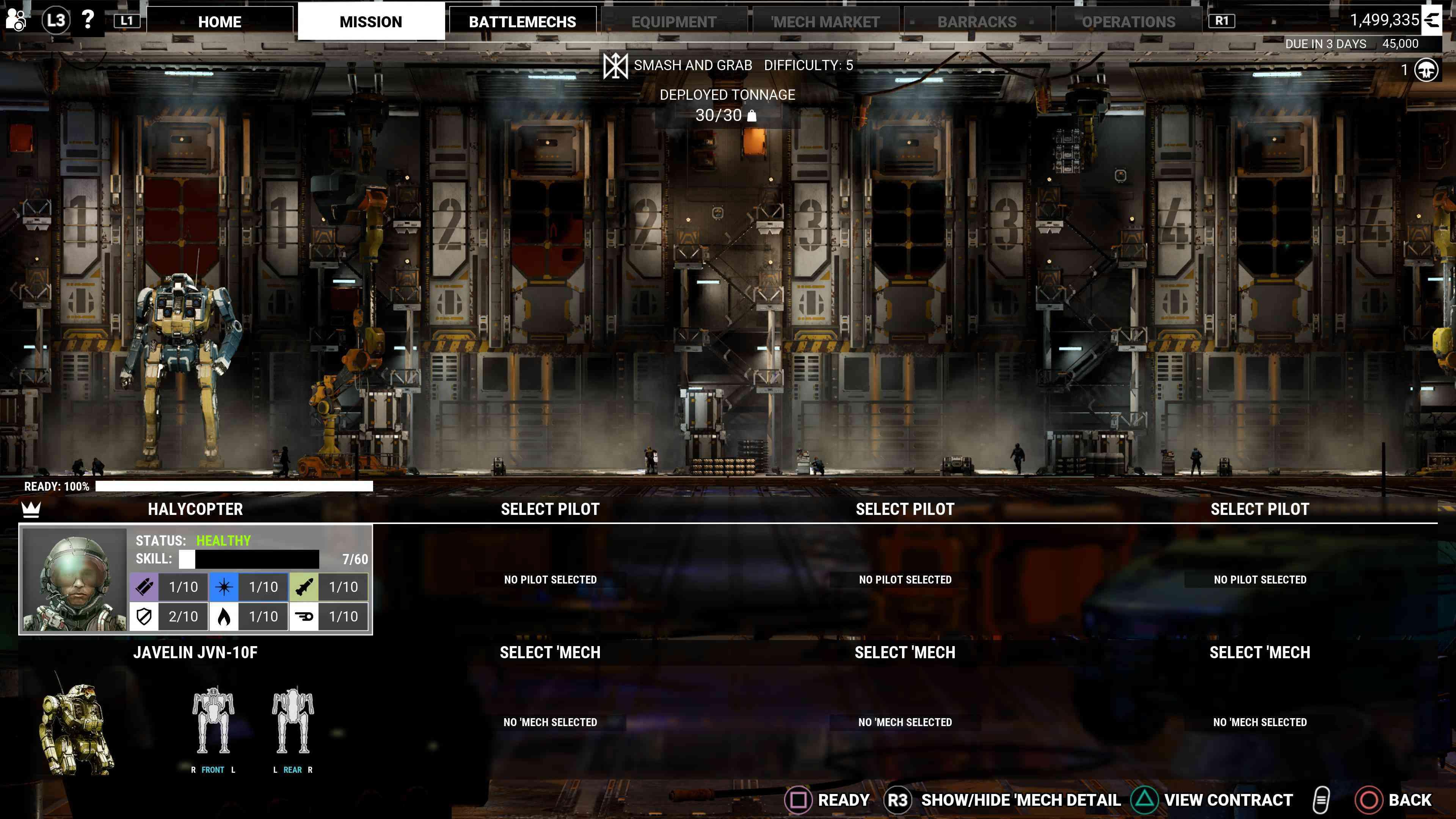 A screenshot from 'MechWarriors 5: Mercenaries.'