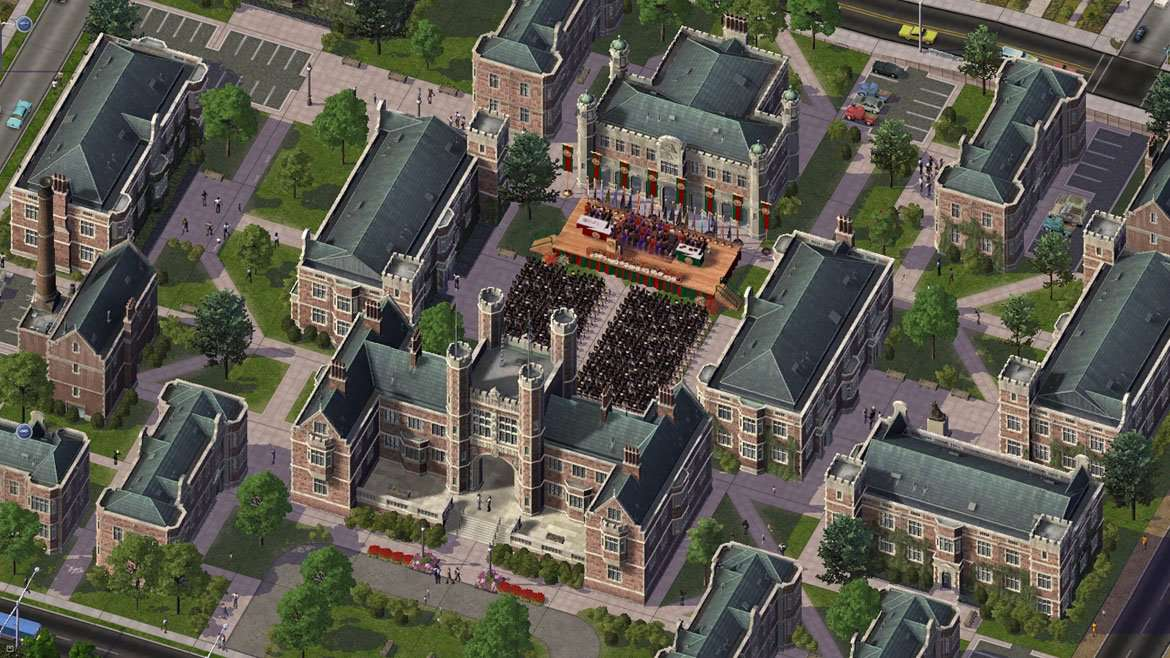 Overview of a city in SimCity 4