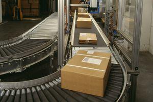 Boxes on a conveyer belt