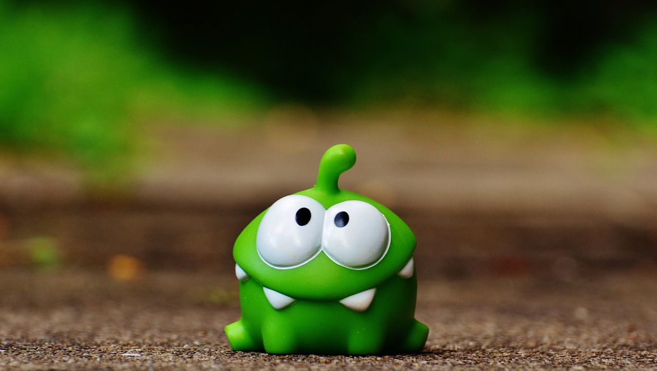 Cut the Rope's lead character, Om Nom